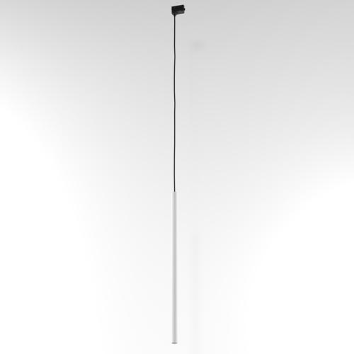 NER 600 Hängeschiene, max. 1x2,5W, G9, 230V, Kabel schwarz, weiß (Mattenstruktur) RAL 9003
