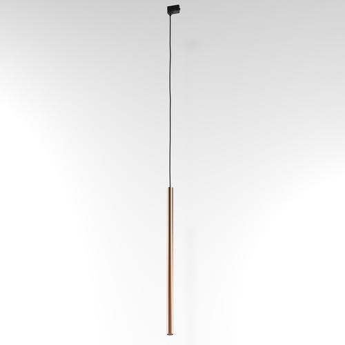 NER 600 Hängeschiene, max. 1x2,5W, G9, 230V, schwarzes Kabel, kupferfarben (glattmatte)