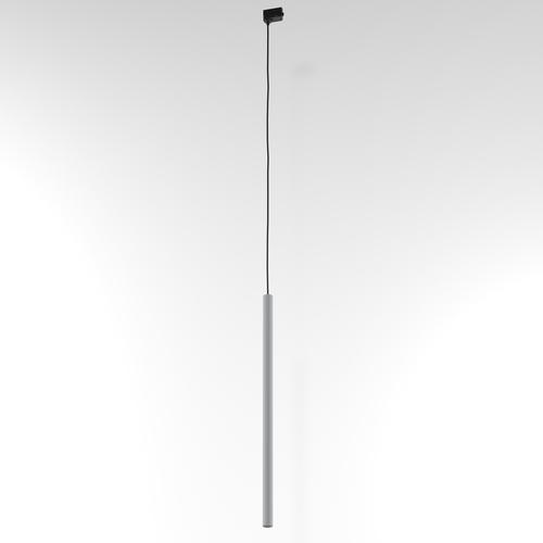 NER 600 Hängeschiene, max. 1x2,5W, G9, 230V, Kabel schwarz, alusilber (matt) RAL 9006
