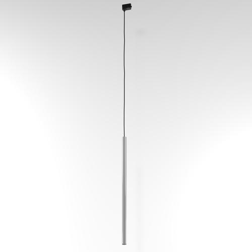 NER 600 Hängeschiene, max. 1x2,5W, G9, 230V, Kabel schwarz, alusilber (glänzend) RAL 9006