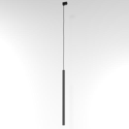 NER 600 Hängeschiene, max. 1x2,5W, G9, 230V, Kabel schwarz, graphitgrau (matt) RAL 7024