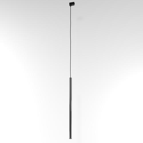 NER 600 Hängeschiene, max. 1x2,5W, G9, 230V, Kabel schwarz, graphitgrau (glänzend) RAL 7024