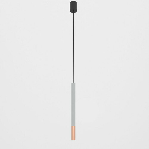 NERON 500 hängend max. 1x2,5W, G9, 230V, schwarzes Kabel, kupferfarben (glattmatt), alusilber (matt) RAL 9006