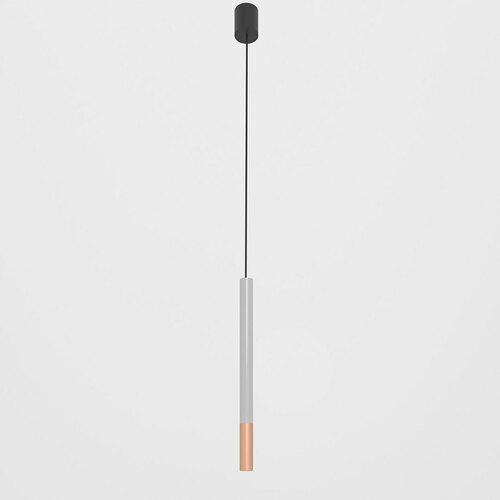 NERON 500 hängend max. 1x2,5W, G9, 230V, schwarzes Kabel, kupferfarben (glattmatt), alusilber (glänzend) RAL 9006