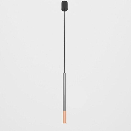 NERON 500 hängend max. 1x2,5W, G9, 230V, schwarzes Kabel, kupferfarben (glattmatt), graphitgrau (glänzend) RAL 7024