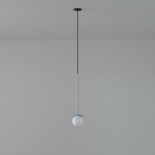 COTTON 350 fi100 hängender Einlass max. 1x1,9W, G9, 230V, Kabel schwarz, alusilber (glänzend) RAL 9006