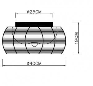 INNENLEUCHTE (DECKE) ZUMA LINE TANGO DECKE MX1104-2 (silber) - Silber small 1
