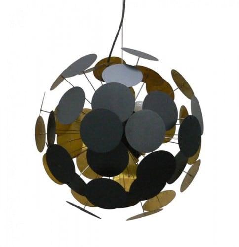Deckenlampe Dots Anhänger Schwarz und Gold