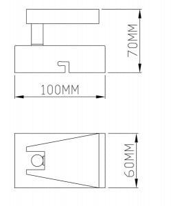INNENLEUCHTE (KINKIET) ZUMA LINE SPAZIO SPOT CK99603A-1 small 1