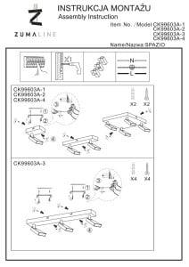 INNENLEUCHTE (KINKIET) ZUMA LINE SPAZIO SPOT CK99603A-1 small 2
