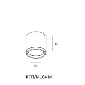 Deckenleuchte RETI / N 104 M small 1