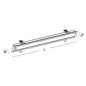 Lineare Einbauleuchte LUPINUS WPUST 120 L-900 SP small 1