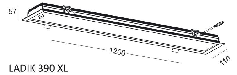 Lineare Einbauleuchte LADIK 390 XL