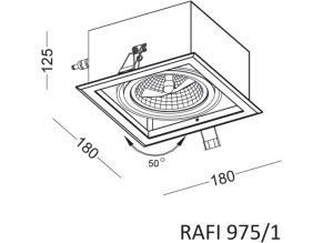 Einbauleuchte RAFI 975/1 small 1