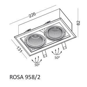 Einbauleuchte ROSA 958/2 small 1