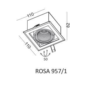 Einbauleuchte ROSA 957/1 small 1