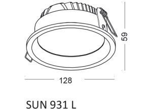 Einbauleuchte SUN 931 L small 1