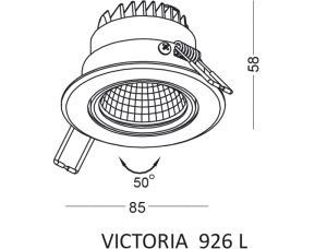 Einbauleuchte VICTORIA 926 L small 1