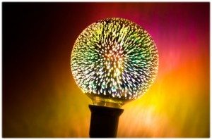 Dekorative Luna Fire Globe LED Feuerwerke 3D small 1