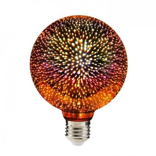 Dekorative Luna Fire Globe LED Feuerwerke 3D