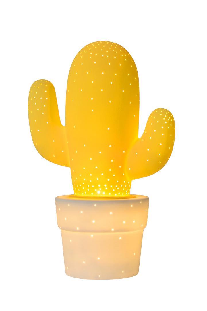 Dekorative Tischlampe CACTUS gelb