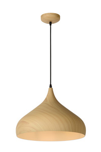 WOODY Pendelleuchte, klares Holz small 0