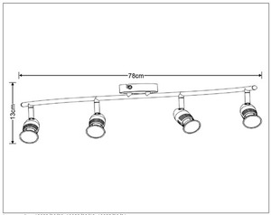 Plafond Vierpunkt CAROLINE Satin Chrom GU10 small 1