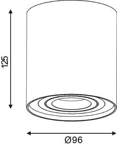 Röhrenstrahler Ø 9,6 cm weiß small 1