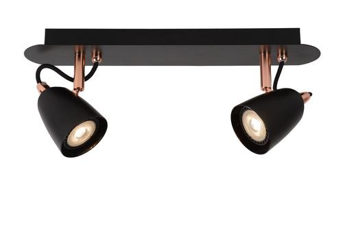Plafond Zweipunkt RODE schwarz Kupfer GU10