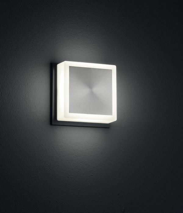 Wandleuchte FIXI SQUARE schwarze LED