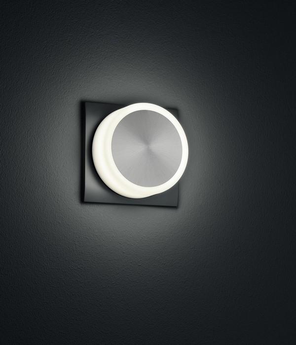 Wandleuchte FIXI ROUND schwarze LED