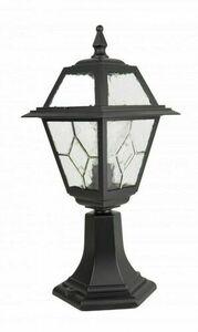 Kleine Gartenlampe mit Glasfenster (47 cm) - K 4011/1 / N small 0