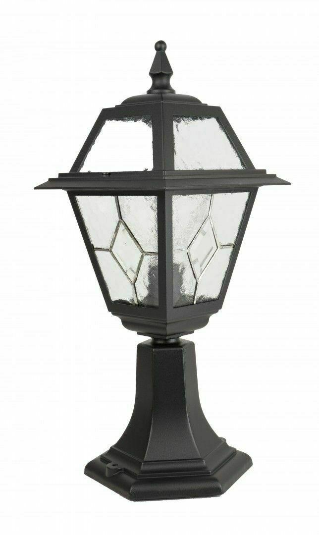Kleine Gartenlampe mit Glasfenster (47 cm) - K 4011/1 / N