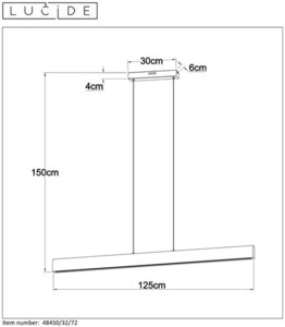 Hängelampe SYTZE klares Holz 125 cm small 1