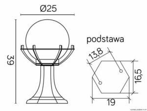 Lampa - Kugel mit Korb stehendem Garten (39cm) - 200 K 4011/1 / KPO small 3