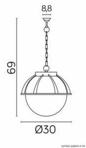 Außenpendelleuchte Kule mit Korb 250 K 1018/1 / KPO 250 small 1