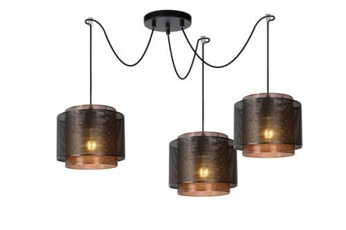 Dreipunkt-Pendelleuchte ORIGIN aus schwarzem Metall E27