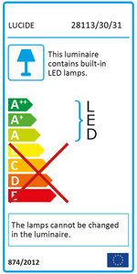 Lucide CERES-LED IP44 28113/30/31 small 2