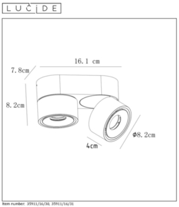 Deckenstrahler Spot MIKO weiß Aluminium LED small 1