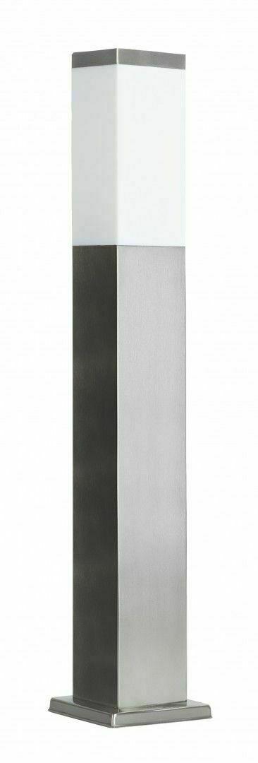 Standleuchte INOX quadratisch 65 cm