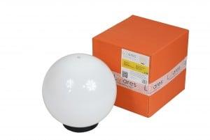 Gartenlampe Luna Ball 25 cm, Gartenkugel, leuchtende Kugel, Wegebeleuchtung, klassischer Stil, weiß mit Glanz small 0