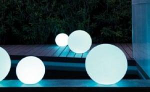 Gartenlampe Luna Ball 50 cm, Gartenkugel, leuchtende Kugel, klassischer Stil, weiß small 6
