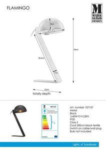 FLAMINGO Geschirr 1L Schwarz small 0