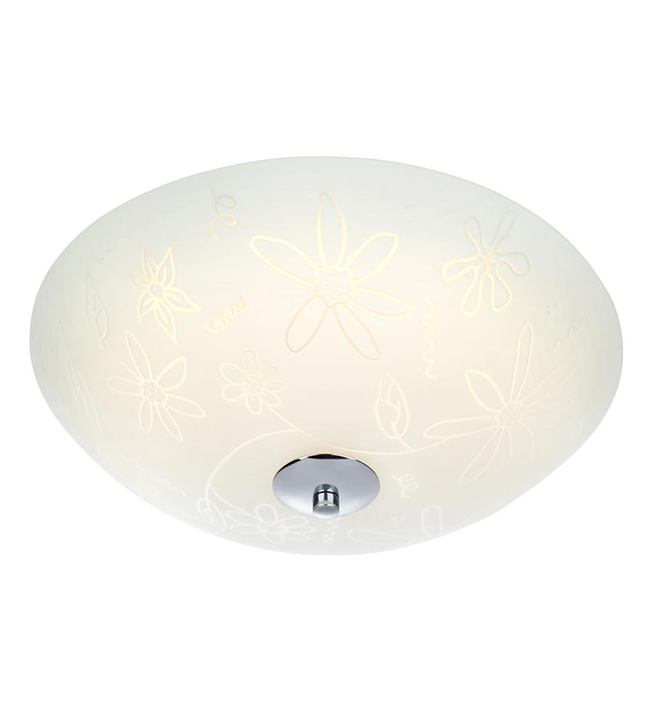 FLEUR Decken LED 35cm Weiß / Chrom