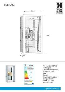 FULHAM Kinkiet 2L Chrom / Przezr. IP44 small 0