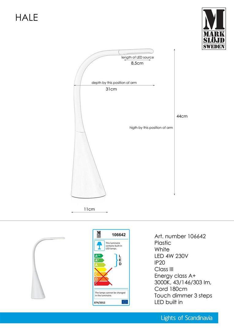 HALE USB White Table