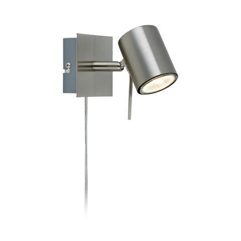 HYSSNA LED Wandleuchte 1L Stahl