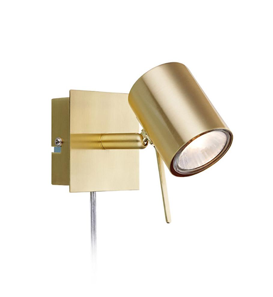 HYSSNA LED Wandleuchte 1L Gebürstetes Gold