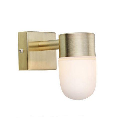 MENTON Wandleuchte 1L Gold Brushed / Opal IP44