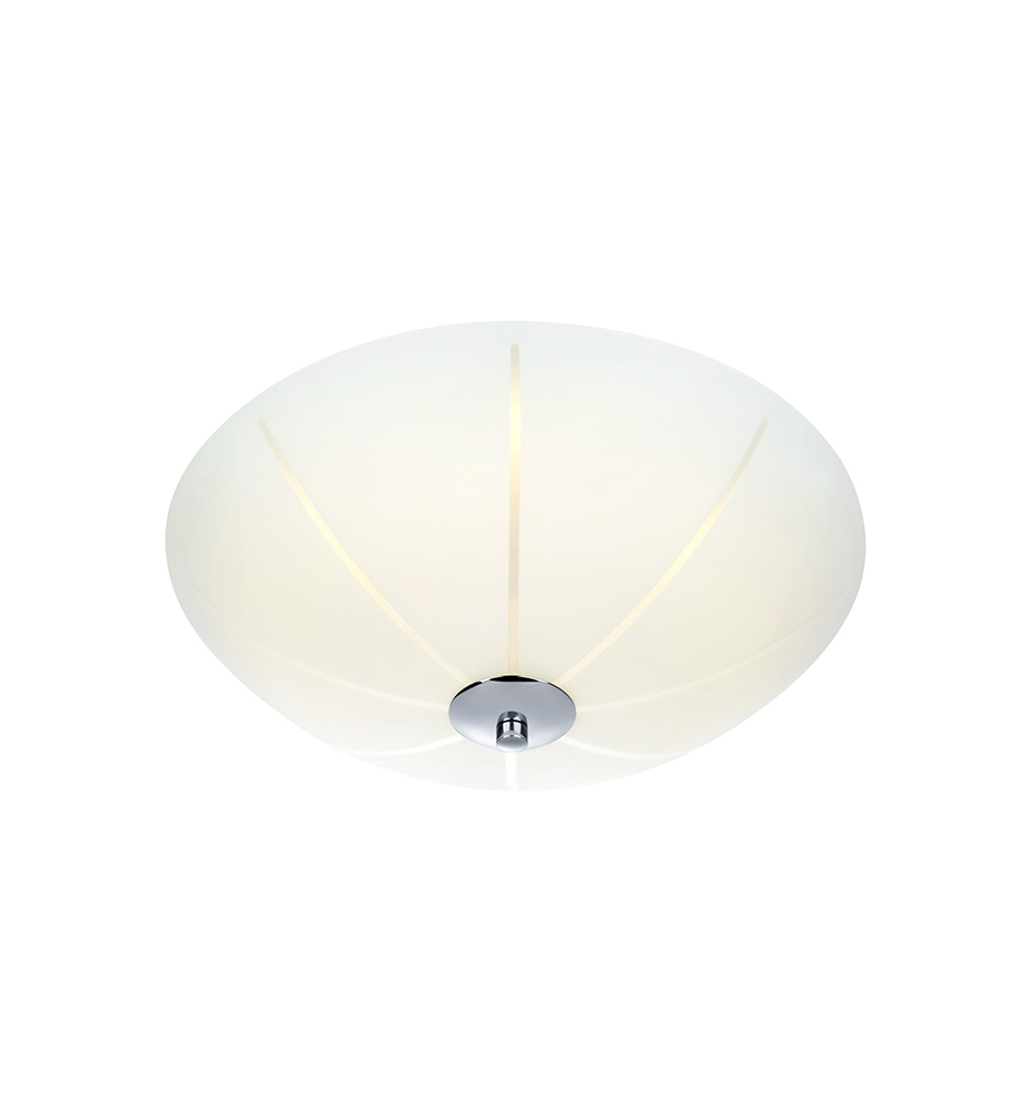 NAZCA Plafon 35cm LED Weiß / Chrom